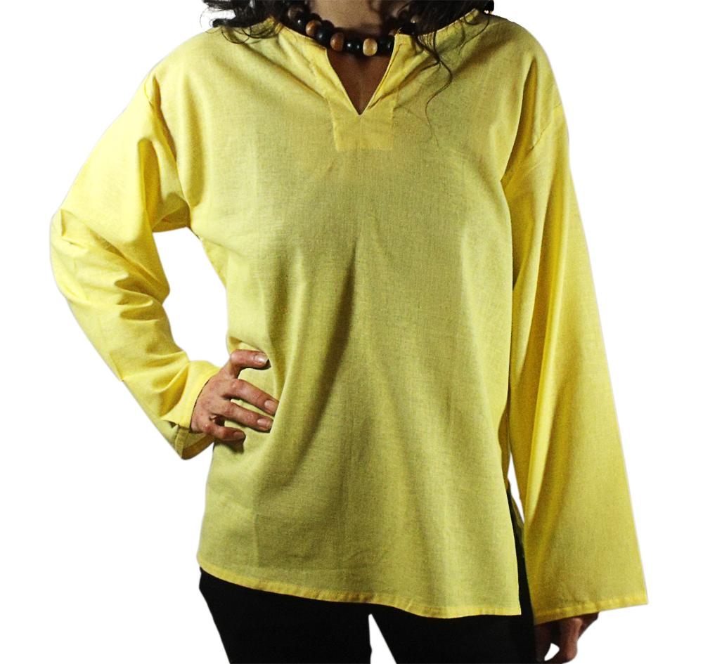 chemise coton jaune arasia
