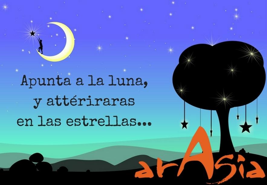 Apunta a la luna...