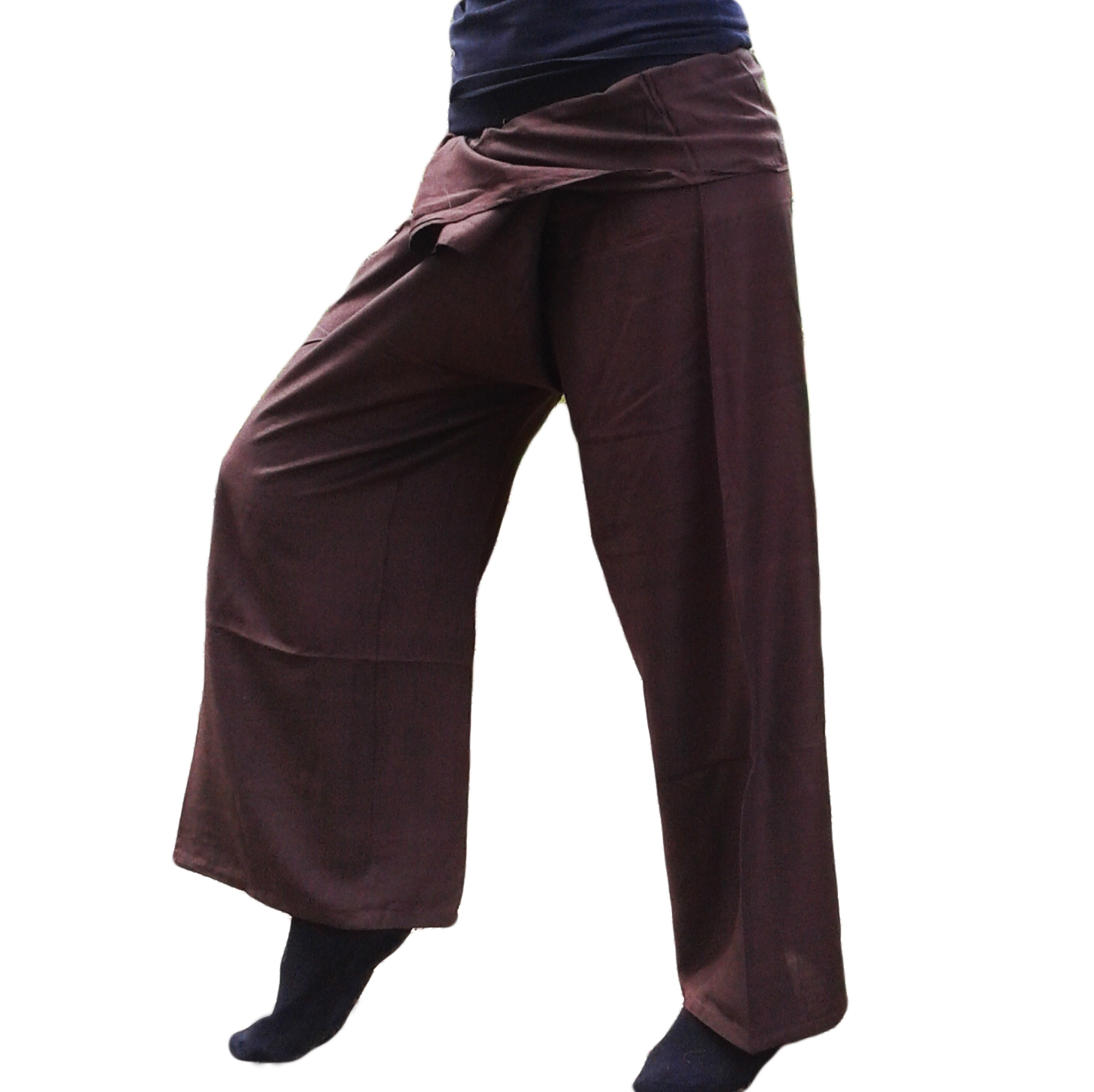 pantalon thaï Arasia marron