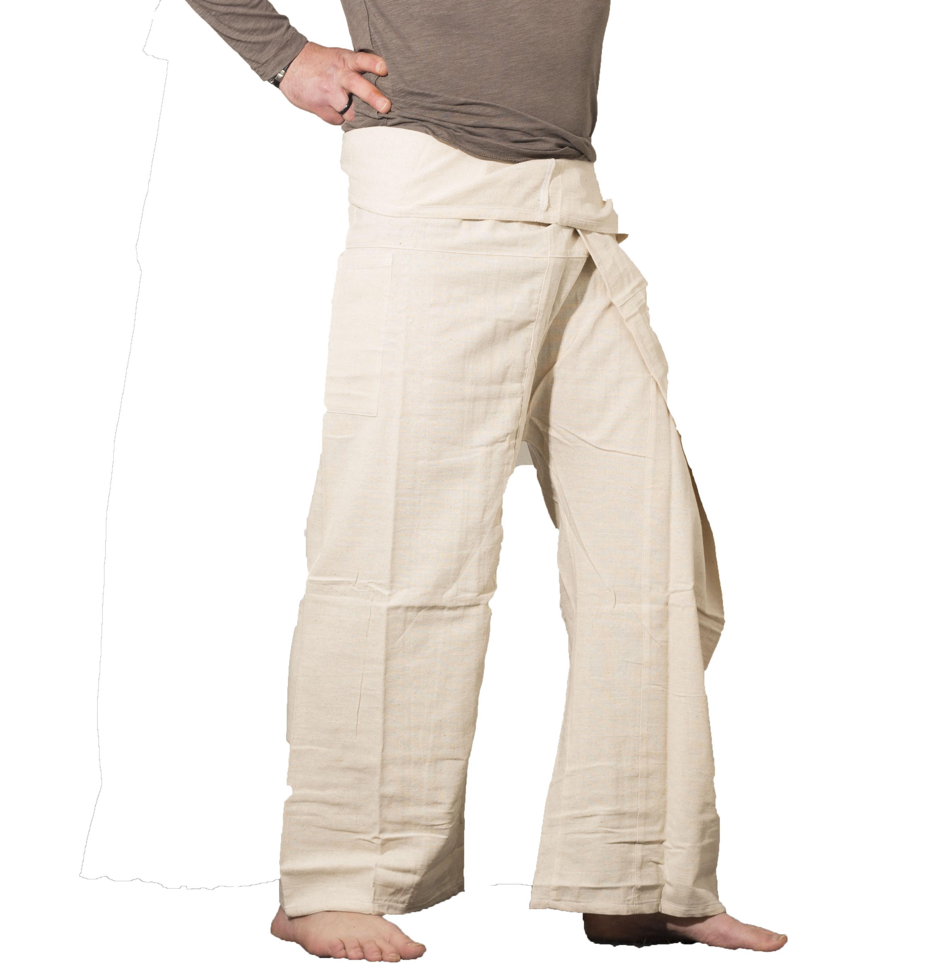 pantalon thaï Arasia blanc