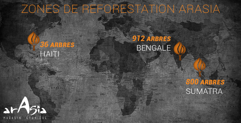 carte de reforestationArasia