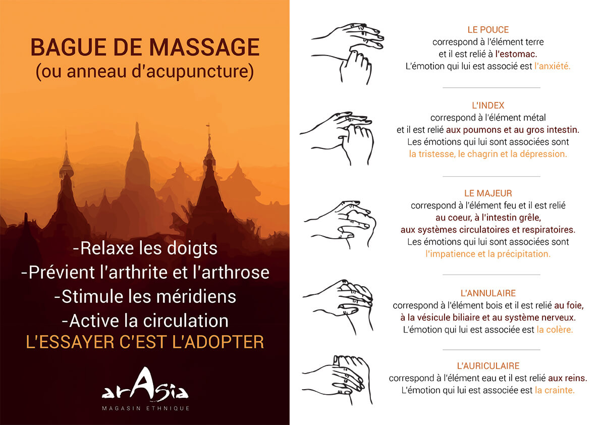 tuto bague de massage arasia